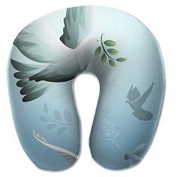 Laurel Neck Pillow Dove Drawing Travel U-Shaped Pillow Soft