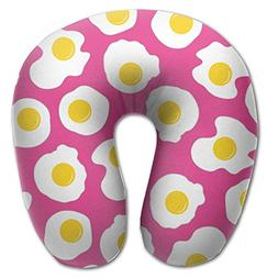 neck pillow egg pink background