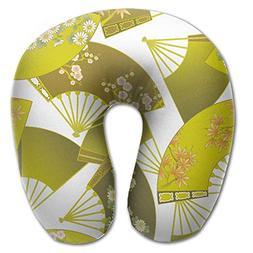 Laurel Neck Pillow Fan Artwork Travel U-Shaped Pillow Soft M