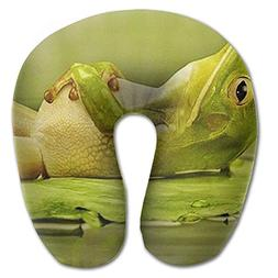 Neck Pillow Frog Lay Travel U-Shaped Pillow Soft Memory Neck