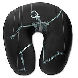 Laurel Neck Pillow Funny Skeleton Travel U-Shaped Pillow Sof