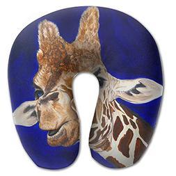 Laurel Neck Pillow Giraffe Watercolor Travel U-Shaped Pillow