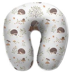 Laurel Neck Pillow Hedgehog Pattern Travel U-Shaped Pillow S