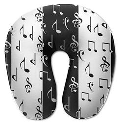 Laurel Neck Pillow Music Note Travel U-Shaped Pillow Soft Me