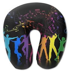 Laurel Neck Pillow Music Notes Man Travel U-Shaped Pillow So