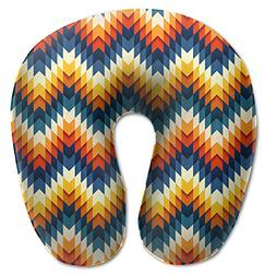 Laurel Neck Pillow Art Pattern Travel U-Shaped Pillow Soft M