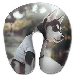 Laurel Neck Pillow Puppy Husky Dress Picture Travel U-Shaped