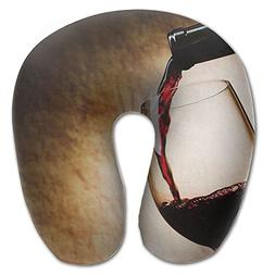 Laurel Neck Pillow Red Wine Glass Picture Travel U-Shaped Pi