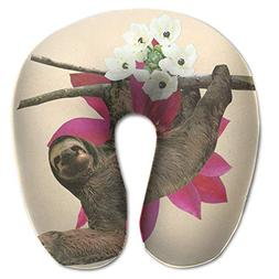 Laurel Neck Pillow Sloth Watercolor Travel U-Shaped Pillow S