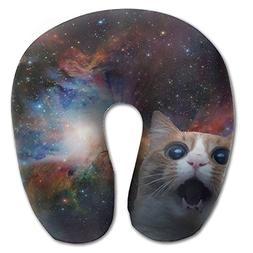 Laurel Neck Pillow Static Space Cat Travel U-Shaped Pillow S