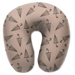 Laurel Neck Pillow Umbrella Image Travel U-Shaped Pillow Sof