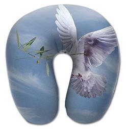 Laurel Neck Pillow White Dove Travel U-Shaped Pillow Soft Me