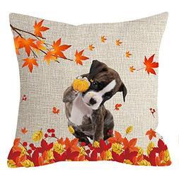 NIDITW Nice Gift Golden Autumn Harvest Season Greetings Leav