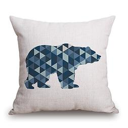 Elliot_yew Nordic Geometric Triangle Pattern Animals Cushion