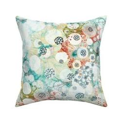 Nucleus Circular Body Cells Throw Pillow Cover w Optional In