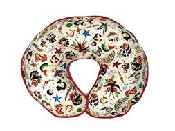 Nursing Pillow Cover Tan Retro Biker Tattoo for Baby Boy or