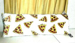 NWT Brooklyn + Park PIZZA Body Pillow Ivory Red Yellow Teen