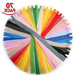 KINGSO 70Pcs 16 Inch Nylon Invisible Coil Zippers Tailor Sew