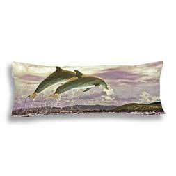 InterestPrint Ocean Life Dolphin Jumping from Water Body Pil