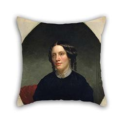 Oil Painting Alanson Fisher - Harriet Beecher Stowe Throw Pi