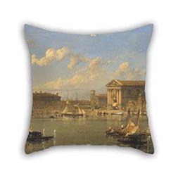 Oil Painting David Roberts - The Giudecca, Venice Throw Pill