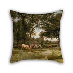 Oil Painting Joaquim Vayreda - Summer Bloom Cushion Cases Be