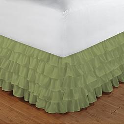 Floris Fashion Olympic Queen 300TC 100% Egyptian Cotton Sage