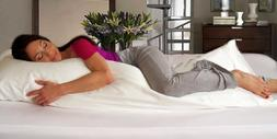 Organic Body Pillow with Down Alternative Filling - Pack of