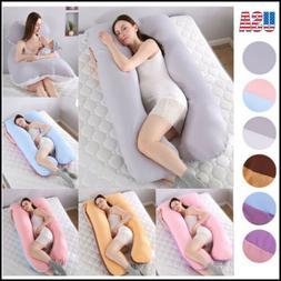 Oversize U-Shape Cotton Full Body Sleeping Pregnancy Pillow/