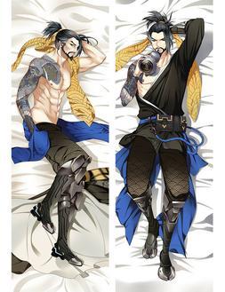 Overwatch Hanzo OW Dakimakura Anime Body Pillow Cover Case 1