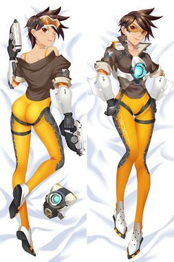 Overwatch Lena Oxton Tracer Dakimakura Anime Body Pillow Cov