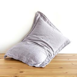 Oxford pillowcase 100% linen PILLOW CASE stonewashed linen q