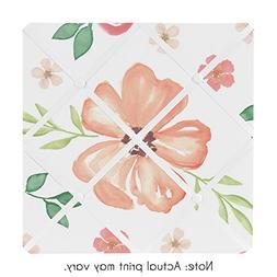 Sweet JoJo Designs Peach and Green Fabric Memory Memo Photo