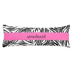 Personalized Black and White Zebra Print with Hot Pink Body
