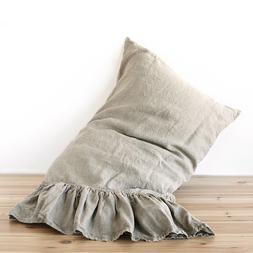 Pillow case Linen RUFFLE PILLOW SHAM Queen King Body Pillow