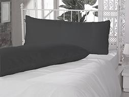 2 Piece Body Pillow Cases 100% Egyptian Cotton 800 Thread Co