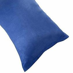 Body Pillow Cover, Soft Micro-Suede Pillowcase with Zipper,