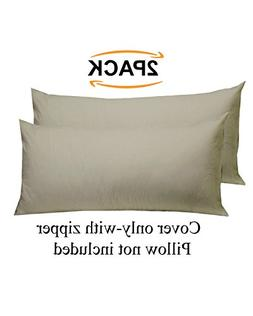 Cotton Craft - 2 Pack Body Pillow Cover Protector - 220 Thre