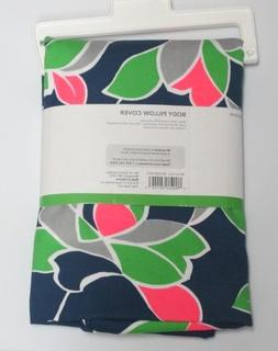 Room Essentials Body Pillow Cover - Navy Rose