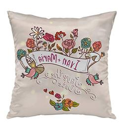 oFloral Pillow Covers Cases Floral Laurels Ribbons Wreaths P