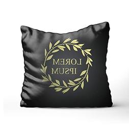 PILLO Decor Laurel Corolla in Figure Throw Cushion Pillowcas