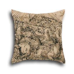Pillow Covers Of Oil Painting Antonio Tempesta - Battle Scen