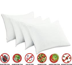 4 Pack Pillow Protectors Standard 20x26 Inches Premium 100%