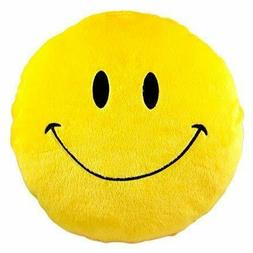 Pillow TOYS Smiley Thick Plush Round Cushion Stuffed fully c