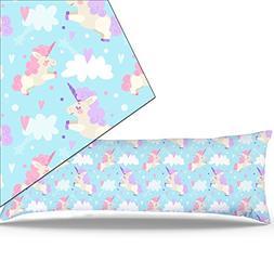 "Miller00 Body Pillowcase 20"" x 48"" Zipper Cotton Maternity P"
