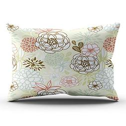 XIUBA Pillowcases Colorful Retro Autumn Dahlia Flowers Abstr