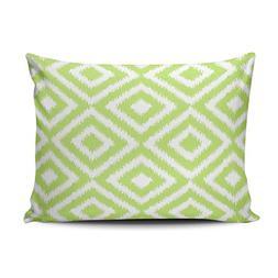 XIUBA Pillowcases Hip Lime Green Ikat Diamond Squares Mosaic