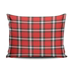 XIUBA Pillowcases Red and Pink Plaid Customizable Cushion De