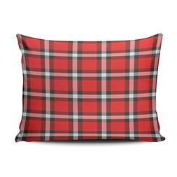 XIUBA Pillowcases Red and Pink Plaid Customizable Cushion De