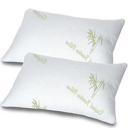 Bamboo Pillows for Sleeping Set of 2 - Standard Queen Size -
